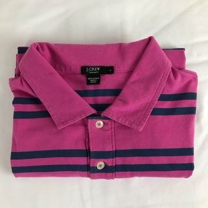 J.CREW Mens Size Large Pink Tailored Fit Shirt